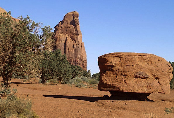 Monument Valley Landscapes Nature Usa Arizona Dese