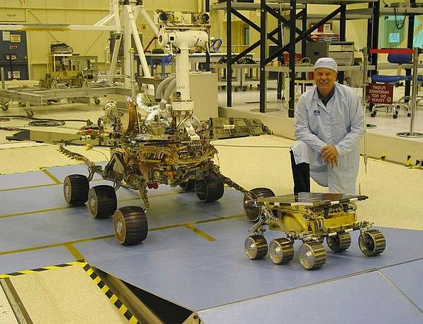 Space Probe Rover Investigation Space Interplaneta