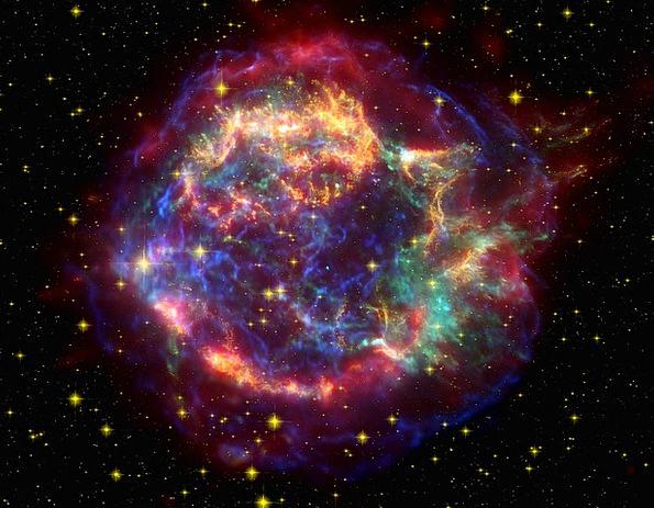 Cassiopeia A Supernova Rest Cas A Night Sky Cassio