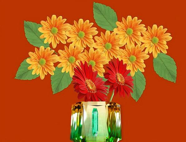 Vase Urn Ornament Flowers Plants Jewel