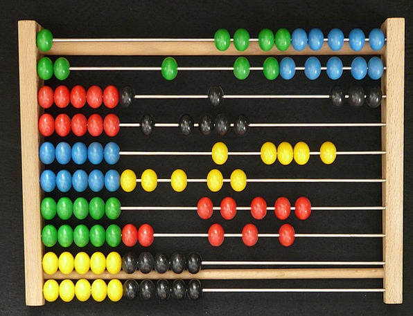 Abacus Wooden Balls Computational Aids Colorful Co