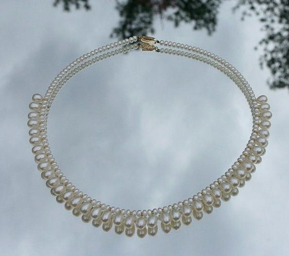 Pearls Gems Fashion Chain Beauty Fashion Style Nec