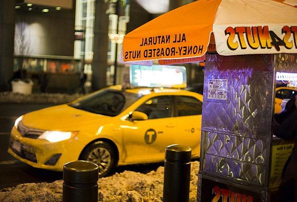 Cab Traffic Transportation Taxi Yellow Cab New Yor