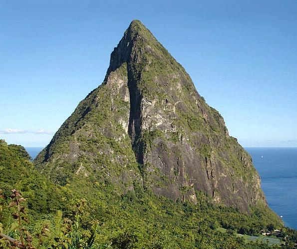 Caribbean Island Landscapes Nature St Lucia Petit
