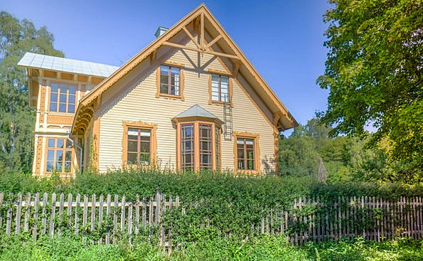 Sweden Buildings Household Architecture Wooden Tim