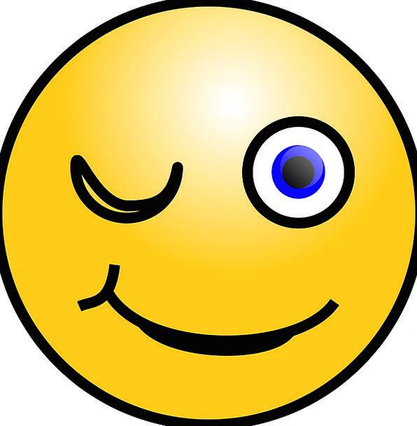 Emoticon Flashing Smiley Smiling Winking Web Face