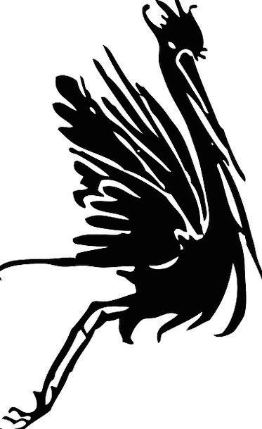 Stork Hoist Bird Fowl Crane Silhouette Outline Fre