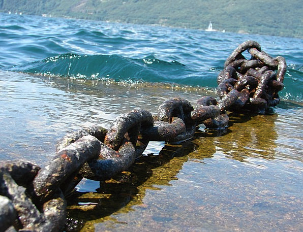 Chain Cable Corroded Weathered Worn Rusty Metal Ch