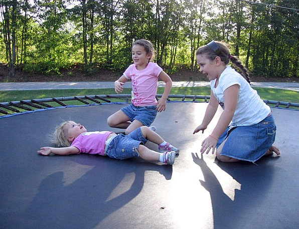 Kids Fun Amusing Trampoline Children Broods Girls