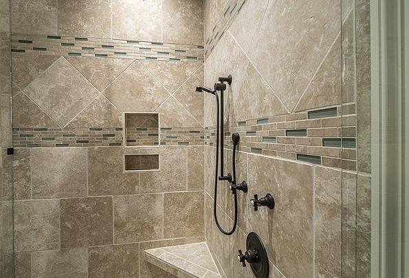 Shower Bath Inlay Bathroom Lavatory Tile Contempor & Shower Bath Inlay Bathroom Lavatory Tile Contemporary ...
