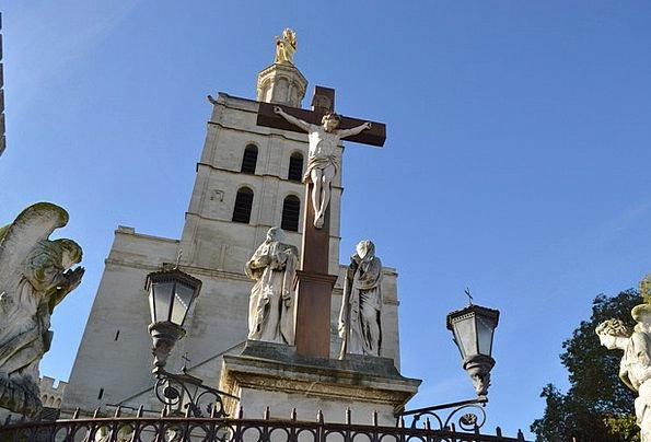 Cathedral Church Religion Faith Avignon Vaucluse A