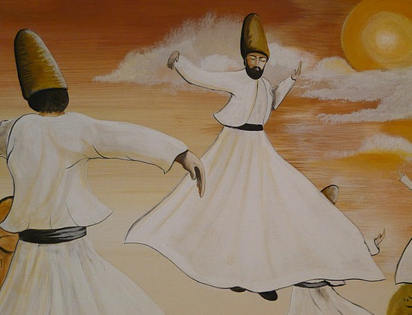 Dance Ball Rotate Towels Dervishes Whirling Dervis