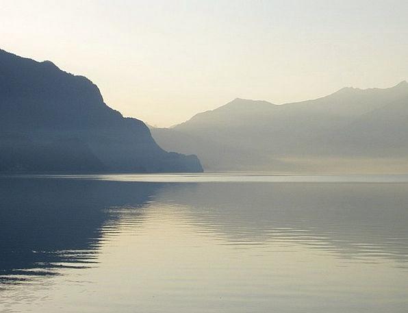 Lake Of Brienz Landscapes Mist Nature Switzerland