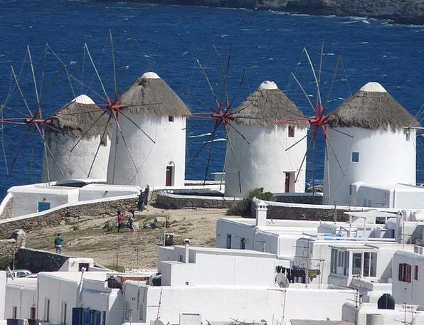 Mykonos Buildings Architecture Island Isle Greece