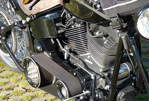 Fan Belt Motorbike Harley Davidson Motorcycle Blac