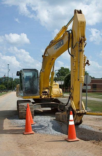 Heavy Equipment Traffic Building Transportation In