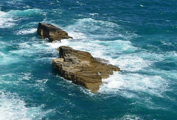 Sea Marine Landscapes Pillars Nature Water Aquatic