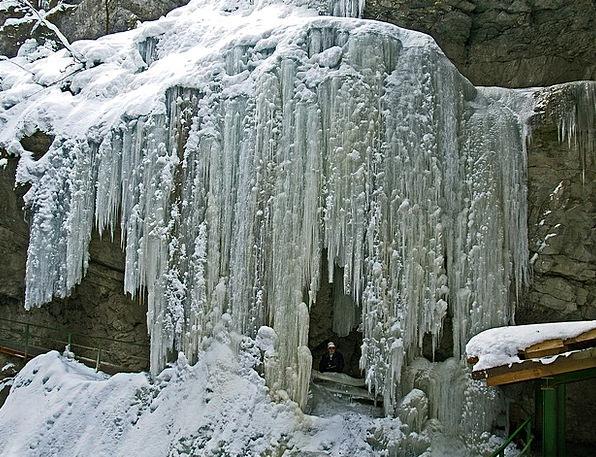 Breitachklamm Stalactite Frozen Waterfall Icicle O