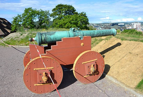 Cannon Gun Oslo Norway Akershus Fortress Stronghol