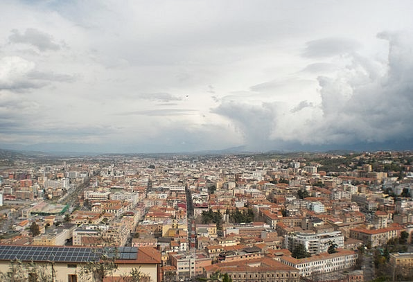 City Urban Buildings Architecture Panoramic Italy