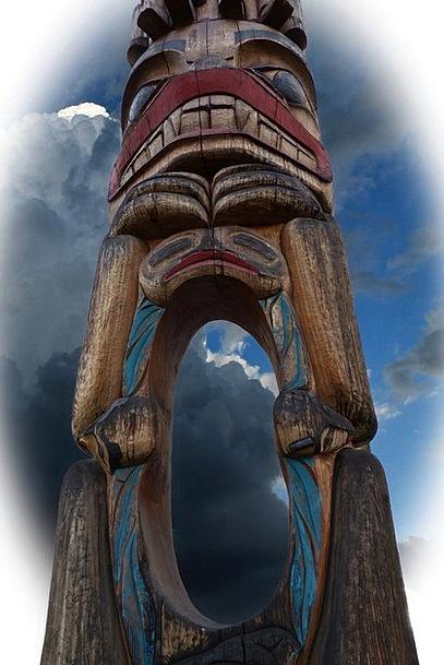 Totem Pole Grime Wooden Pole Grunge Craftsmanship