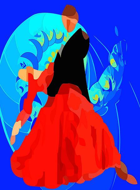 Tango Ballet Dancing Bopping Spanish Dance Dance B