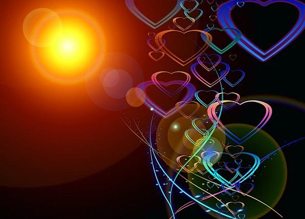 Greeting Card Emotion Love Darling Heart Sun Herzc