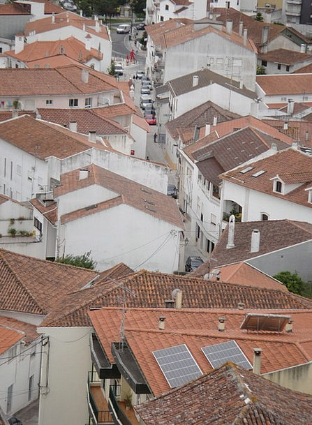 Portugal Rooftops Houses Households Roofs