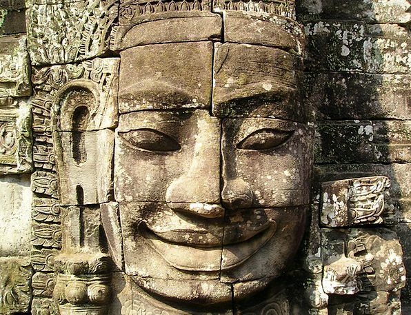Angkor Cambodia Wat Stonemasonry Temple Shrine Sou