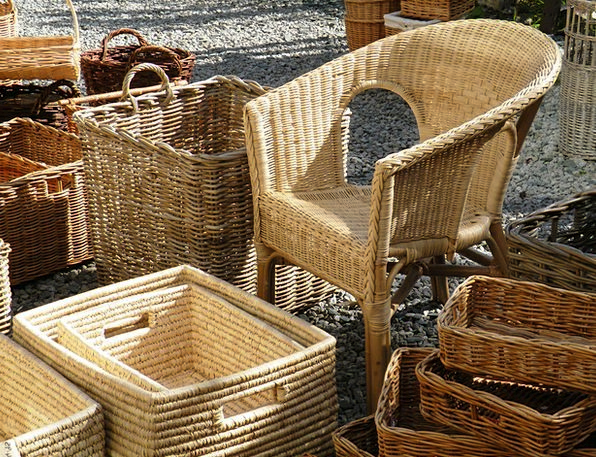 Wicker Cane Bags Wicker Chair Baskets Basket-Chair