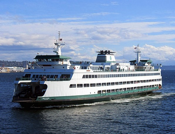 Ferry Ship Water Aquatic Boat Puget Sound Seattle