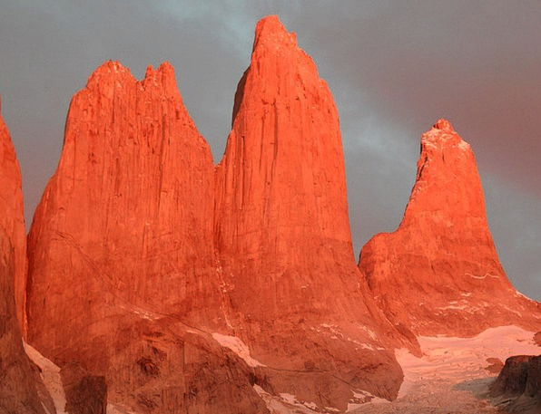 Torres Del Paine Crags Granite Stonework Mountains