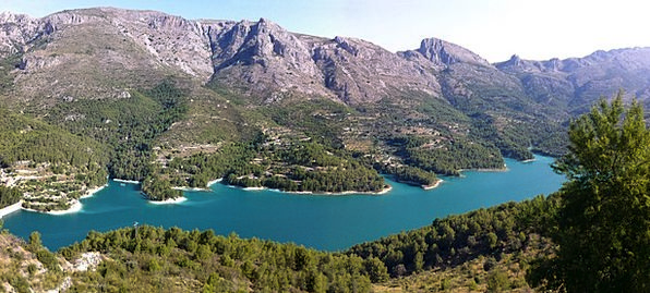 Guadalest Lake Freshwater Spain Dam Barrier Panora