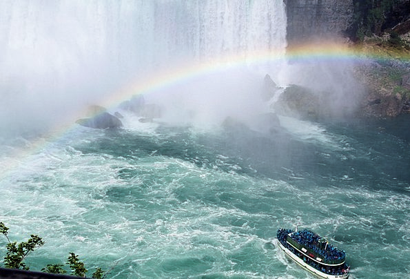 Niagara Falls Boat Ship Canada Rainbow Multicolore