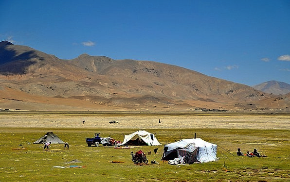 Tibet Landscapes Scenery Nature Nomads Wanderers L