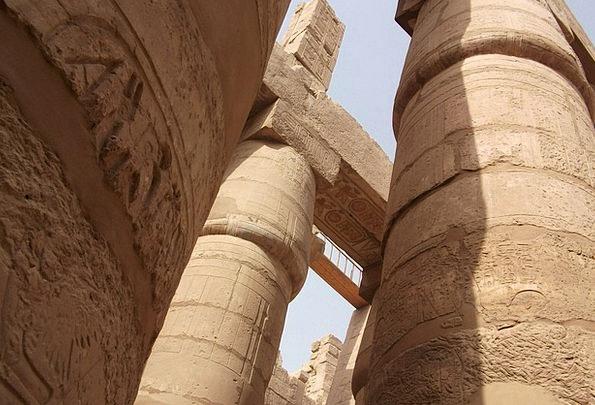 Columnar Temple Buildings Architecture Luxor Egypt