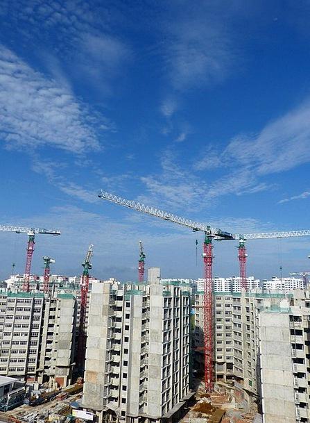 Construction Buildings Place Architecture Cranes H