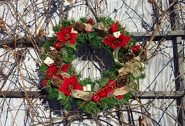 Wreath Garland Plants Floral Flowery Flowers Poins