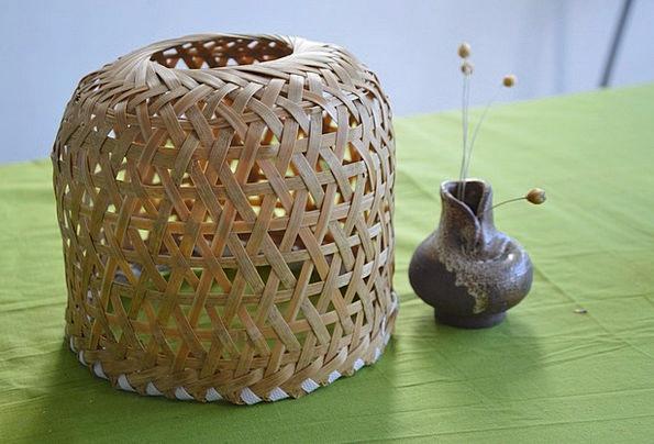 Bamboo Cane Interlacing Box Weaving Container Ampu