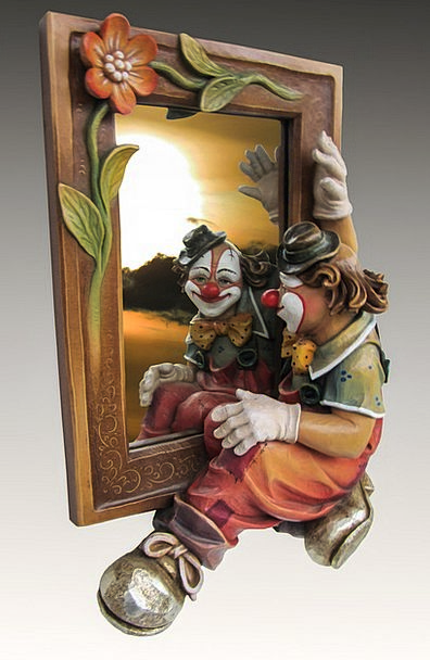 Mirror Glass Joker Photo Montage Clown Image Copy