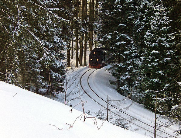Resin Mastic Brocken Railway Narrow Gauge Train Lo