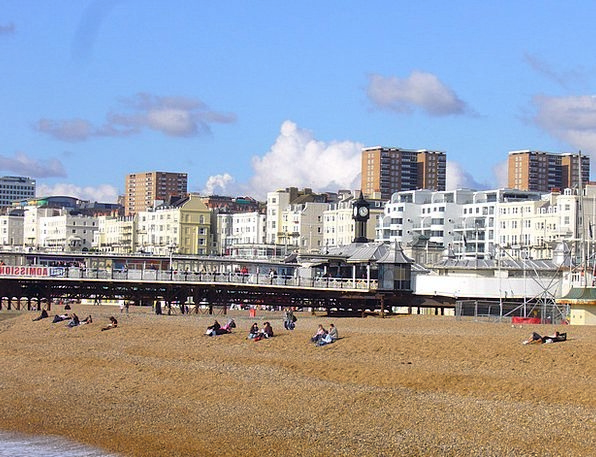 Brighton East Sussex United Kingdom Seafront Water