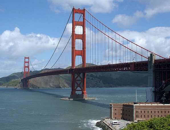 Golden Gate Bridge Buildings Viaduct Architecture