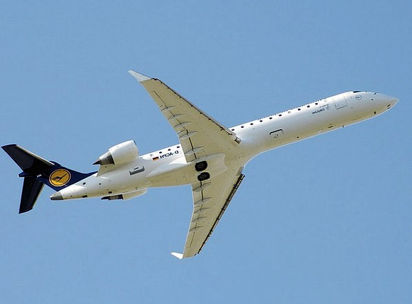 Jet Plane Flat Airplane Bombardier Aircraft Flying
