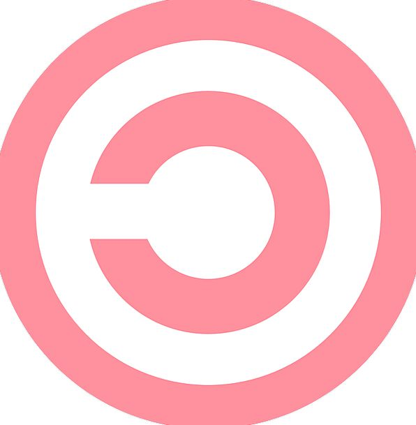 Copyright Patent Pink Flushed Symbol Punctuation C