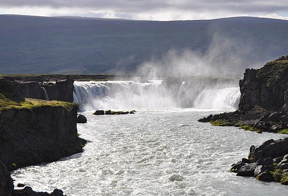 Iceland Landscapes Nature Waterfall Cascade Godafo