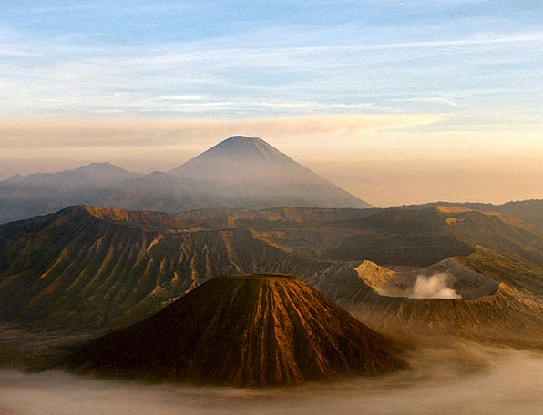 Volcano Landscapes Nature Indonesia Java Active Mo