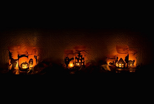 Halloween Bright Candles Tapers Light Scary Fright
