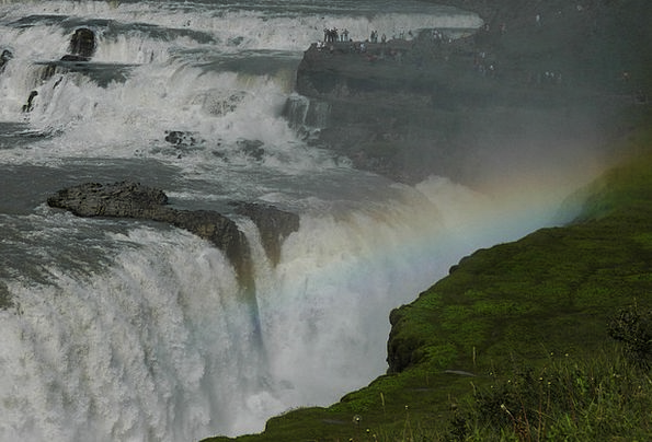 Iceland Landscapes Nature Energy Vigor Godafoss Wa