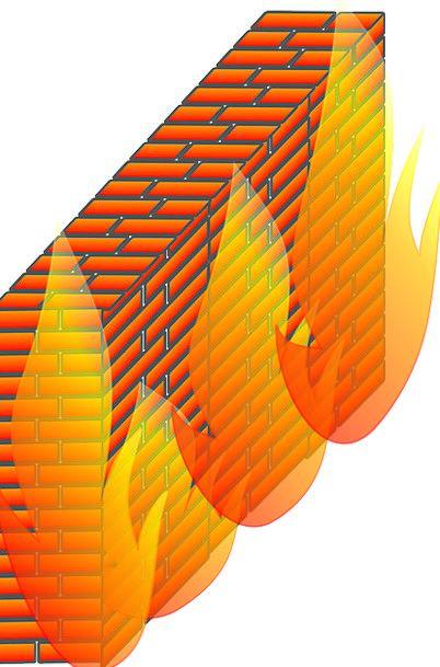 Firewall Partition Bricks Elements Wall Network Ne